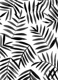 Black Leaves Ink Pattern