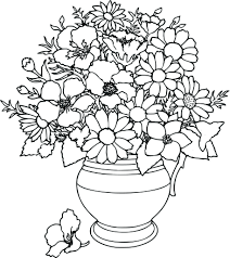 Flower Coloring Pages For Adults Inside Adult