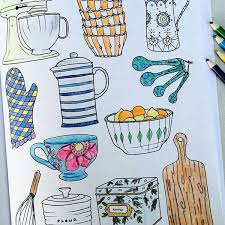 Interior Design Adult Coloring Book