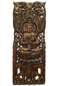 Buddah Wall Art Wood Decor On Buddha Amazon