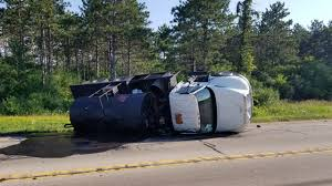 Overturned Truck, Tar Spill Closes Highway 12 Near Whitewater - WISC A View Of An Overturned Truck On Highway In Accident Stock Traffic Moving Again After Overturned 18wheeler Dumps Trash On Truck Outside Of Belvedere Shuts Down Sthbound Rt 141 Us 171 Minor Injuries Blocks 285 Lanes Wsbtv At Millport New Caan Advtiser Drawing Machine Photo Image Road Brutal Winds Overturn Trucks York Bridge Abc13com Dump Blocks All Northbound Lanes I95 In Rear Wheels Skidded Royalty Free