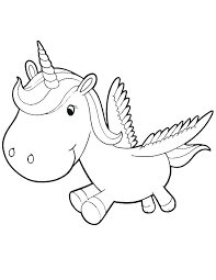 Printable Beanie Boo Coloring Pages Baby Unicorn Flying
