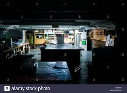 100 Urban Art Studio Dark Evening Night Illuminated Office Art Studio Room