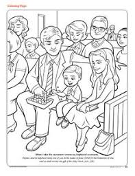 Lds Sacrament Coloring Pages Sketch Page