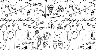 Free Printable Birthday Coloring Paper