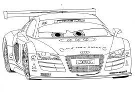 Audi R8 Disney Cars 2 Coloring Pages