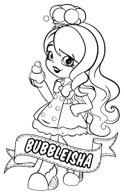 Colouring In Sheets Of Shopkins Shoppies Coloring Pages 5 Nice For Kids