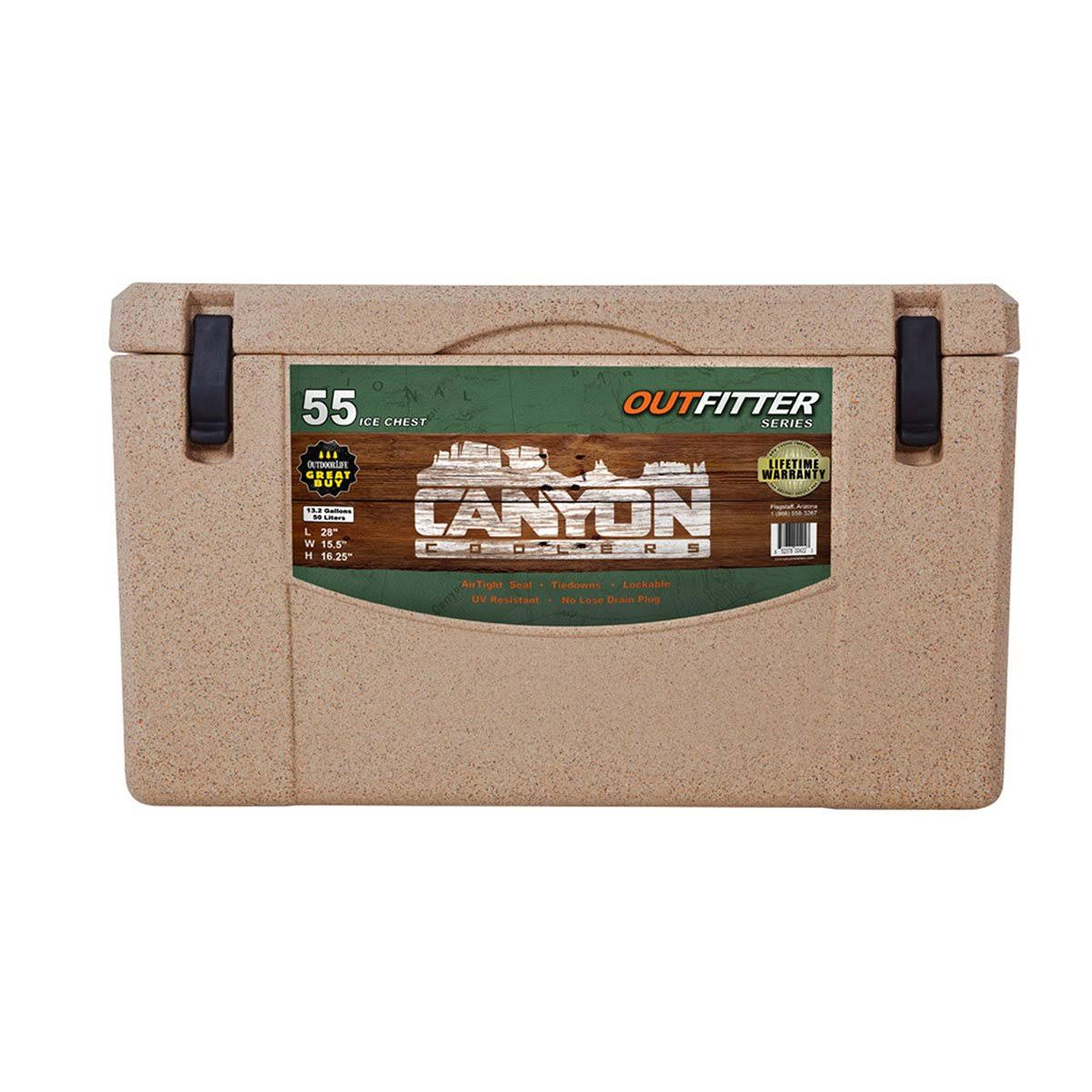 Canyon Coolers Outfitter Rotomolded Cooler - Sandstone, 55 Quart