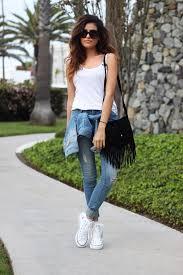 It Is The Season For Skinny Jeans And White Converse Via Sazan Barzani