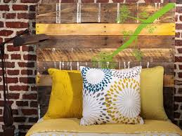 How To Make A Platform Bed From Wooden Pallets by Salvage Items Turned Into Bedroom Headboards Diy