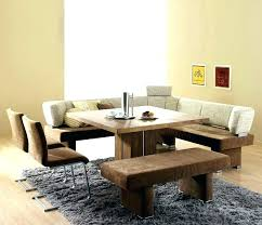 Kitchen Table Bench Seat Height With Back Unusual Dining Room
