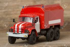 100 Metal Fire Truck Toy Scale Model Of A Retro Engine Stock Photo Picture And