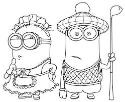 Minions Coloring Pages Phil And Kevin