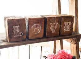 LOVE Rustic Blocks Hand Made Wedding Decorations Ireland