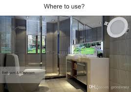 großhandel wasserdichtes downlight ip65 downlight pfeiler 9w 15w 24w led punktlicht led deckenle für badezimmer downlight schiff durch dhl