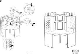 Ikea Micke Corner Desk by Download Ikea Mikael Corner Workstation Assembly Instruction For