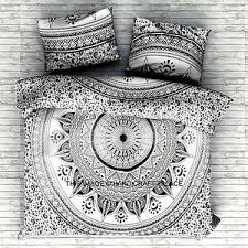 Indian Black Ombre Mandala Duvet Cover forter Doona Cover