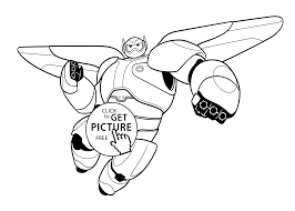 Baymax Coloring Pages For Kids Printable Free