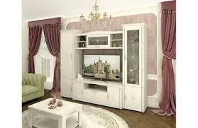 barock stil wohnwand wohnzimmer möbel in creme vanille mit