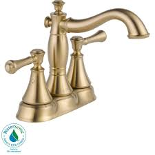 Delta Cassidy Bathroom Faucet Venetian Bronze by Delta Cassidy 4 In Centerset 2 Handle Bathroom Faucet With Metal