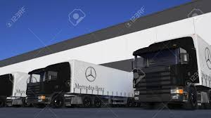 100 Mercedes Semi Truck Freight S With Benz Logo Loading Or Unloading