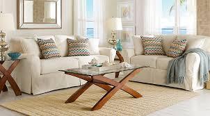 Cindy Crawford White Denim Sofa by Cindy Crawford Home Beachside Natural 8 Pc Living Room Living