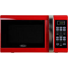 Ft 900 Watt Microwave Oven Red With Chrome
