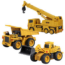 100 Electric Mini Truck RC Toy Dump Cars Children Excavator Crane Bulldozer