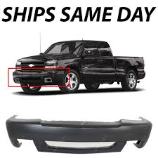 100 Chevy Truck Ss New Primered Front Bumper Cover For 20032007 Silverado 1500
