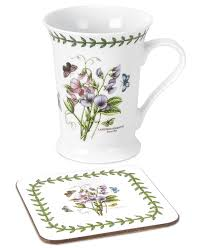 Spode Christmas Tree Mugs With Spoons by Amazon Com Portmeirion Dinnerware Botanic Garden Mug And