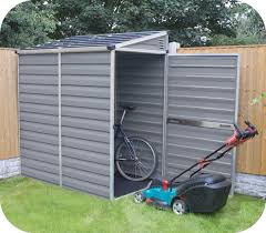 4x6 Outdoor Storage Shed by Palram 4x6 Lean To Skylight Shed Kit W Floor Gray Hg9600t