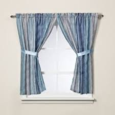 Blue Sheer Curtains Uk by Buy 36 Inch Window Curtain From Bed Bath U0026 Beyond