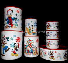 Mickey Mouse Flip Out Sofa by Tupperware 8 Pc Disney Mickey Mouse Holiday Christmas Canisters