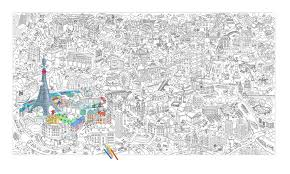 100 Paris By Design OMY Play Giant Colouring Roll Wild And Whimsical Things
