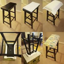 DIY Saddle seat bar stool padding Step by step photos Used only
