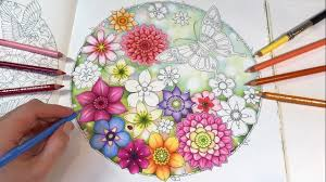 Secret Garden Coloring Book Background Part Blurred And Flowers