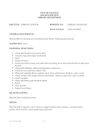 Sample Janitorial Resume Janitor Cover Letter Download Free