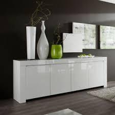 details zu sideboard weiß echt hochglanz lackiert wohnzimmer kommode amalfi 210 cm breit