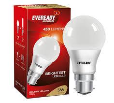 buy eveready base b22d 5 watt led bulb cool day light at
