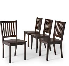 Simple Living Slat Espresso Rubberwood Dining Chairs (Set Of 4) | EBay Simple Living Albury Ding Chairs Set Of 2 House Tilo Grey Leatherette Parson Open Kitchen Room And Design Ideas Gopelling The Ari Solid Oak Bernard Midcentury Sets 5piece 4 Shop Free Shipping Living Room Modern Rectangle Combo With Amazoncom Slat Espresso Rubberwood Interior Table Blue Buy Slatback Online Teaklab Counter Height Cross Back Awesome Small Space Home