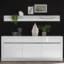 lomadox esszimmer set cogo 61 spar set 2 tlg sideboard und wandboard set in hochglanz weiß mit griffmulden in betonoptik bxhxt 217x165x42cm