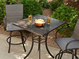 Outdoor GreatRoom Empire Aluminum 36 Square Dora Brown Pub Table ...