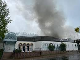 brand im kurmittelhaus rauchsäule über bad wildungen