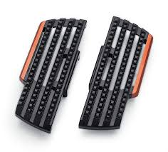 harley davidson dominion black collection left right rider footboard kit 18 later softail models 50500869