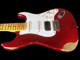 2017 Fender Stratocaster 1957 Custom Shop Heavy Relic 57 HSS Strat Red Sparkle