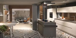 wohnen in der küche kochen im wohnzimmer backsteen