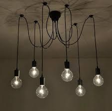 6 arm edison bulb pendant chandelier modern antique adjustable diy