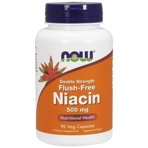 NOW Foods Flush Free Niacin Double Strength Vegetarian Capsules