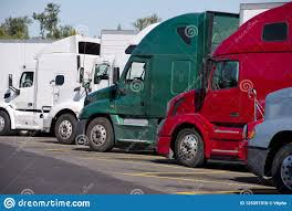100 Trucks Stops Near Me Different Make And Moders Of Big Rigs Semi Stand In Row O