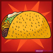 how to draw a taco